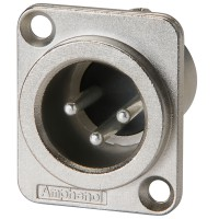 Amphenol AC 3 MMDZ - XLR Panel Mount Male
