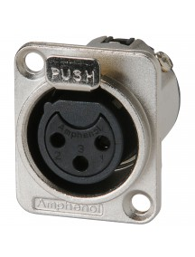 Amphenol AC3 FDZ - XLR Panel Mount Connector Female