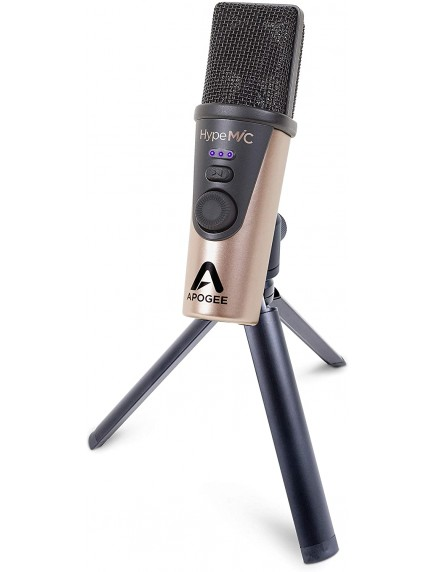Apogee Hype Mic - USB Microphone with Analog Compression for Capturing Vocals and Instruments, Streaming, Podcasting, and Gaming, Made in USA