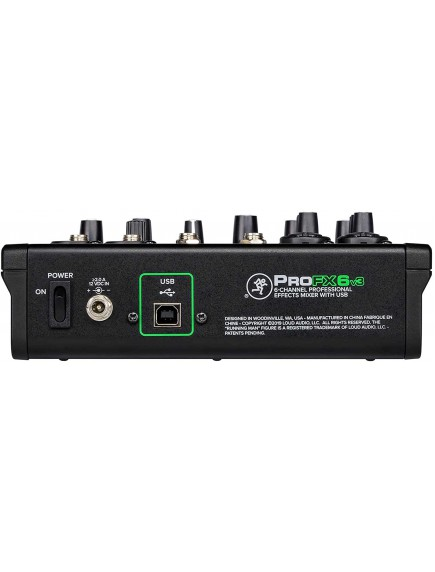 Mackie ProFX6v3 - 6 Channel Pro Effects Mixer with USB