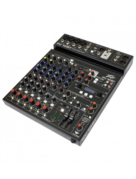 Peavey  PV 10 BT - 10 Channel Compact Mixer with Bluetooth