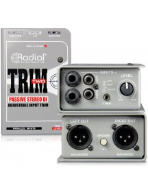 Radial Trim Two Passive Stereo DI Box