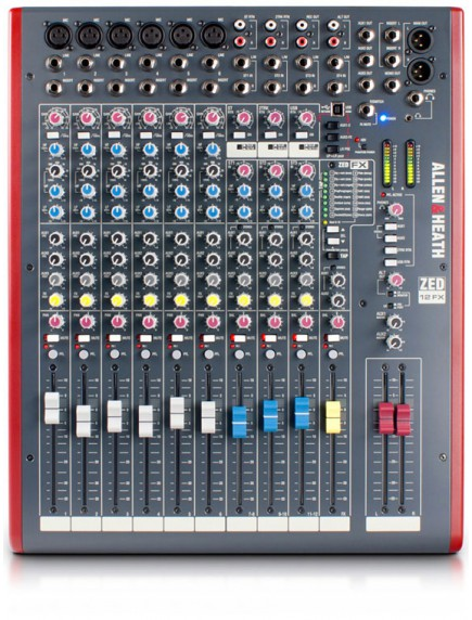 Allen & Heath ZED12 FX - 12Channel Mixer with USB Interface and Onboard EFX