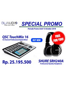 QSC TouchMix16  16 Channel Compact Digital Mixer - FREE SHURE SRH240A