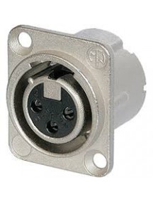 Neutrik NC3FD-LX 3 pole female receptacle, solder cups, Nickel housing, silver contacts